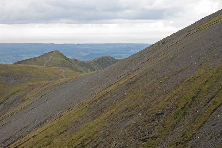 Longside Edge and the slopes of Skiddaw