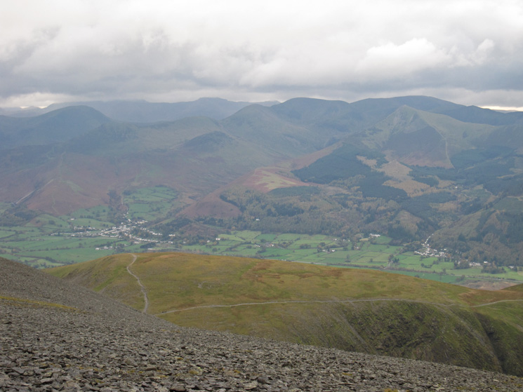 Over Carl Side to the north western fells