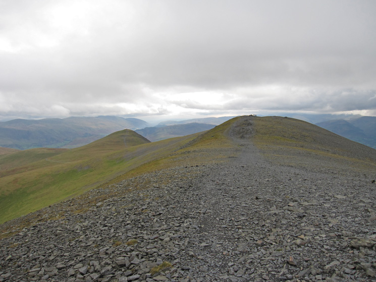 Skiddaw's summit ridge