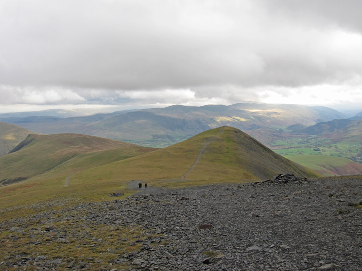 Lonscale Fell and Skiddaw Little Man as I head back down