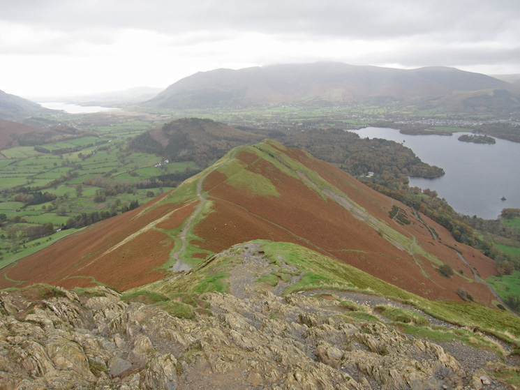 Skelgill Bank from just below Catbells summit