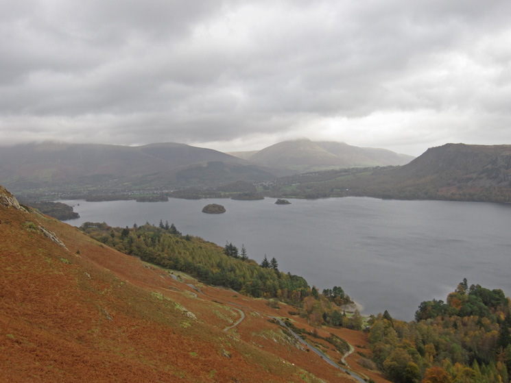 Derwent Water with Blencathra in the distance