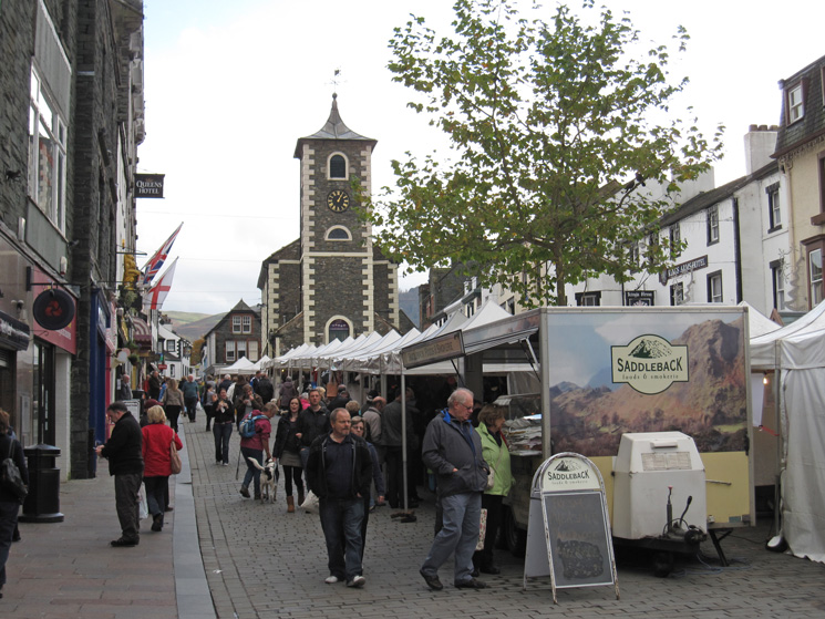 Thursday is market day in Keswick (and so is Saturday!)