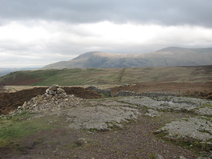 Clough Head and Great Dodd from Walla Crag's summit