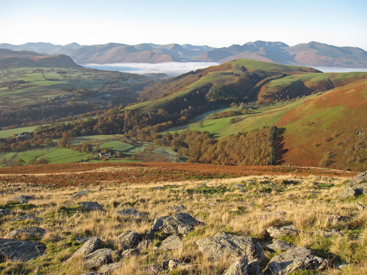 Looking over to Latrigg and the north western fells from Blease Fell