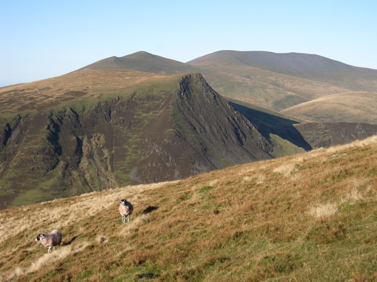 Lonscale Fell with Skiddaw Little Man and Skiddaw behind