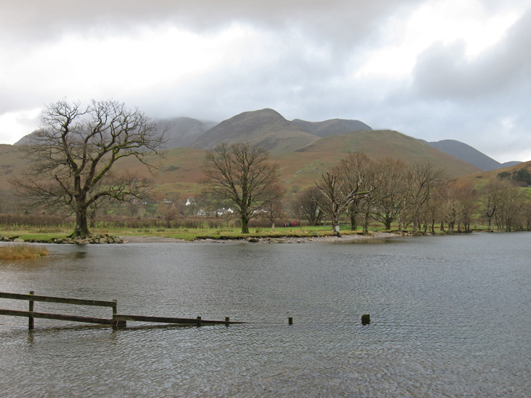 Looking back towards Buttermere village with the Grasmoor fells behind