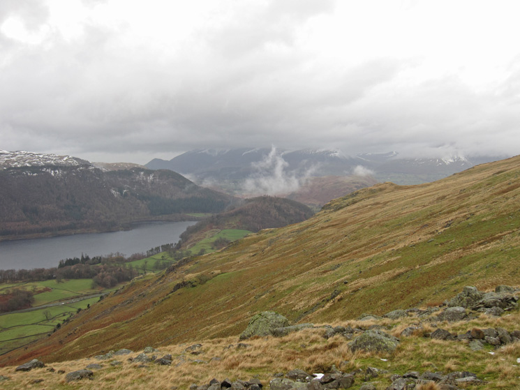 Looking north towards the Skiddaw fells