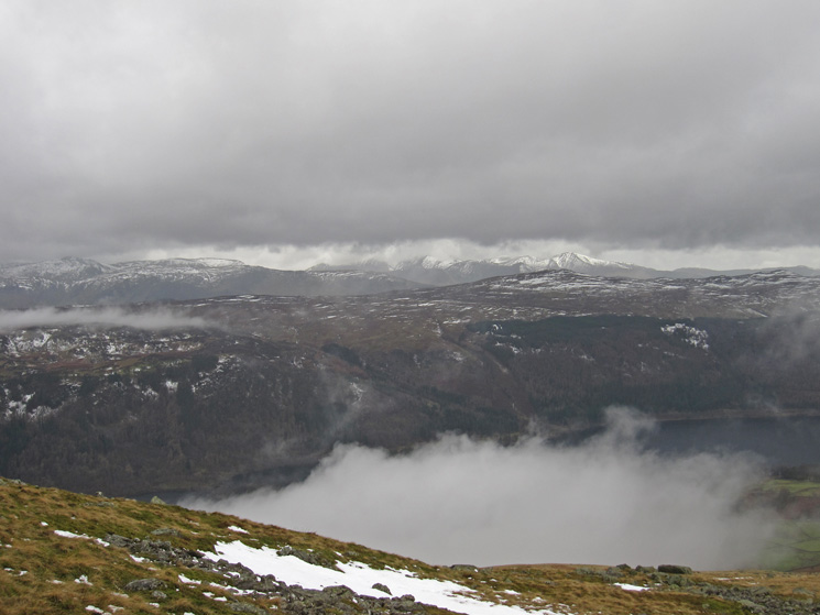 Over Thirlmere to High Seat with the north western fells in the far distance