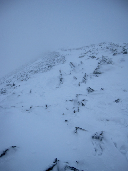 Looking down the route off Helvellyn Lower Man