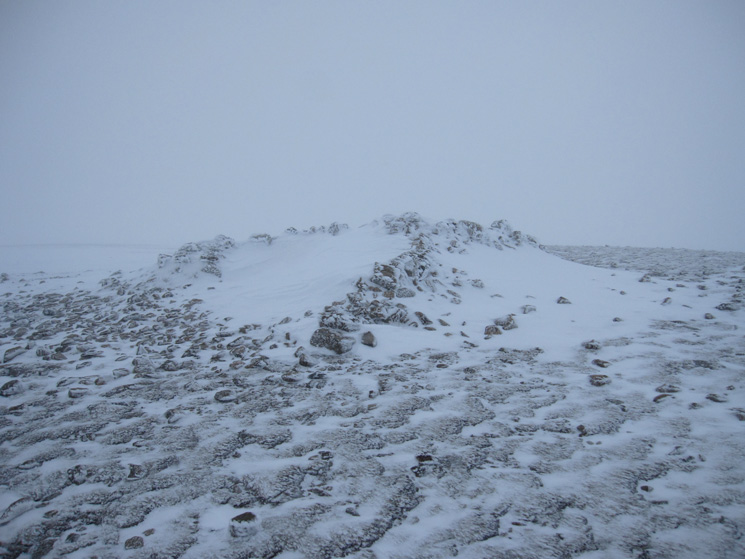White Side summit cairn