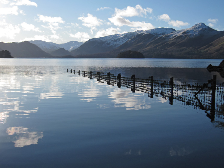 The view south up Derwent Water