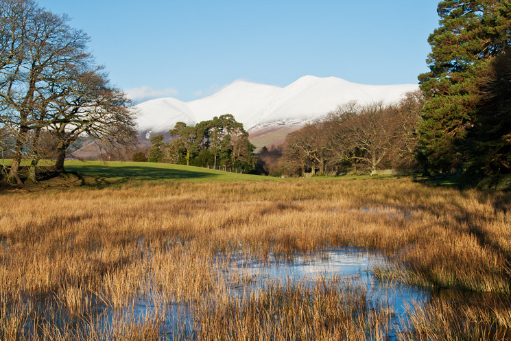 The Skiddaw fells look like they have lots of snow