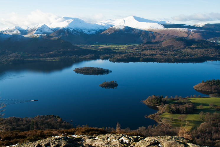 Over Derwent Water to the north western fells from Walla Crag