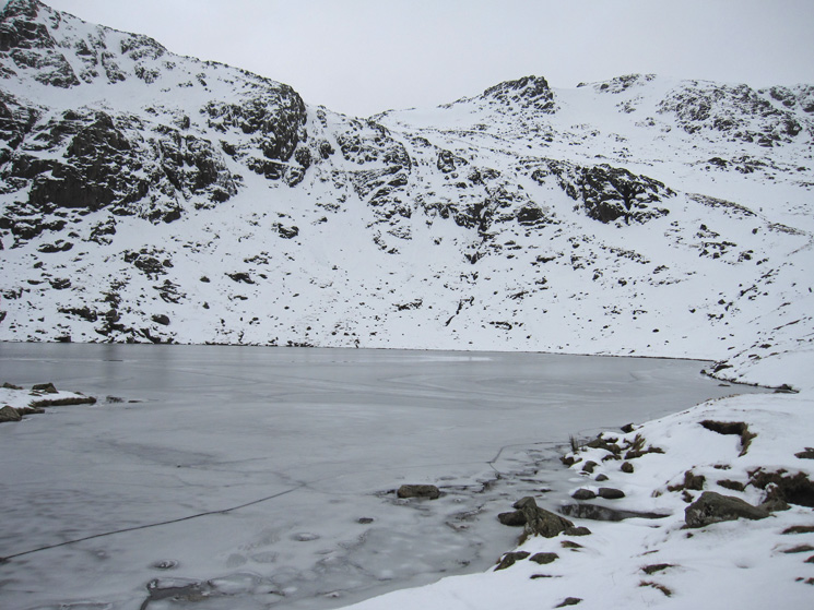 Angle Tarn. Ore Gap is the low point on the skyline