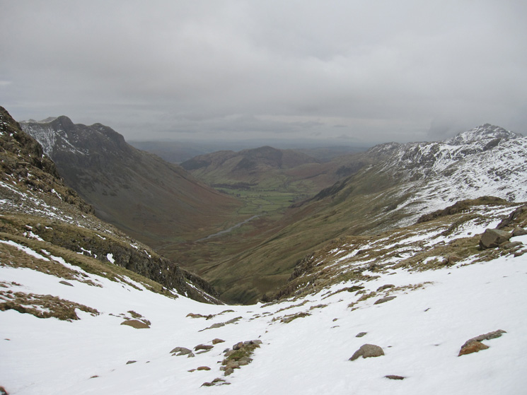 Great Langdale from the top of Rossett Gill