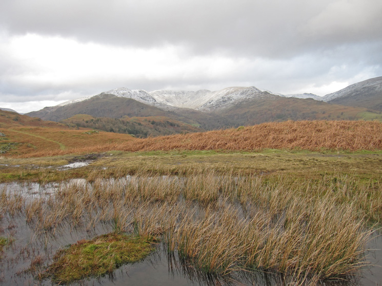 Snow on the upper sections of the Fairfield Horseshoe