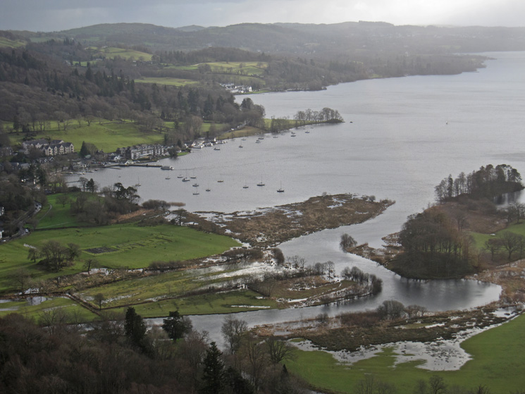Waterhead and the remains of Galava (Roman Fort)