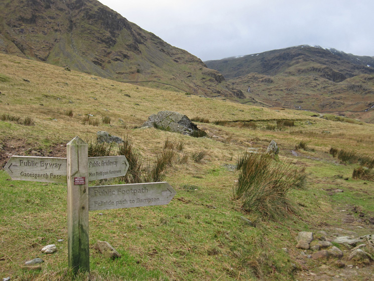 I'm heading up via Nan Bield Pass and back down via Gatescarth Pass