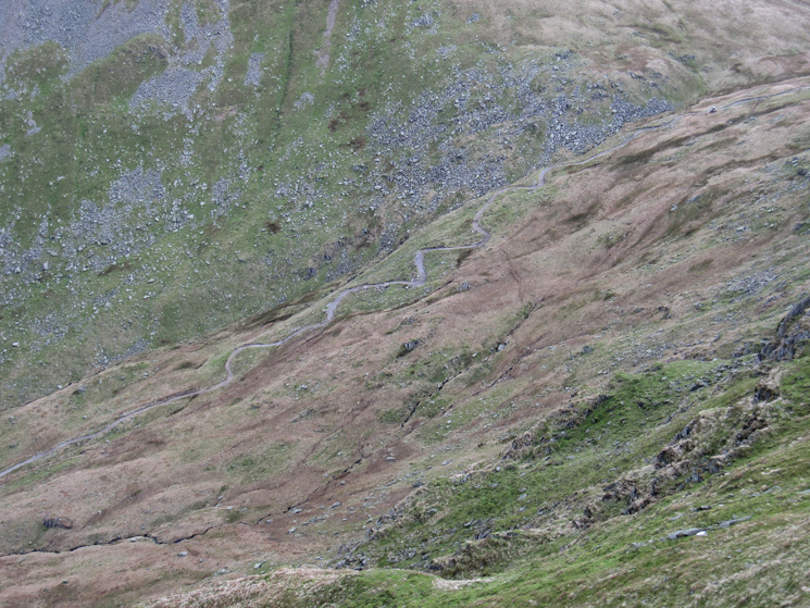 The Gatescarth Pass track down to Mardale Head, spot the digger...