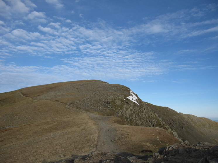 High Crag, the main path skirts its summit. I took the minor path up through the scree
