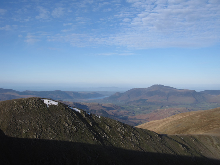 Helvellyn Lower Man and the Skiddaw fells