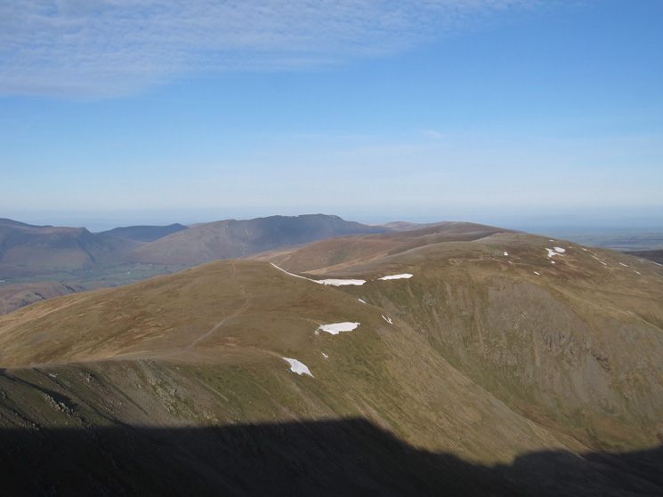 White Side, Raise and the Dodds with Great Calva and Blencathra in the distance