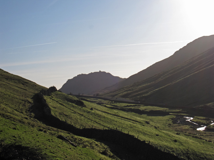 Almost back at Dunmail Raise, Helm Crag beyond