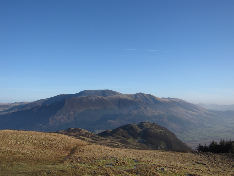 Barf with the Skiddaw fells behind from Lord's Seat's summit
