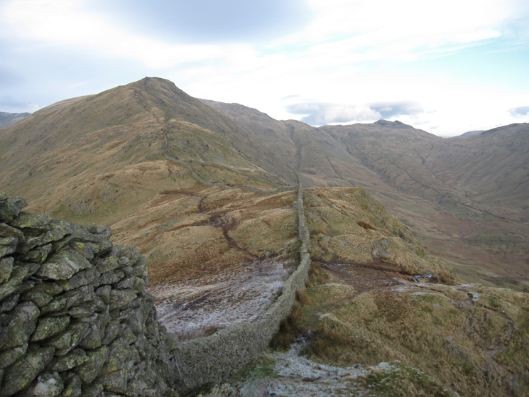 High Pike and the head of Scandale from Low Pike's summit