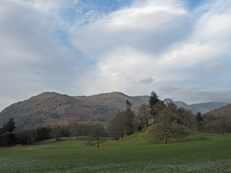 The Nab Scar to Fairfield ridge from Rydal Park