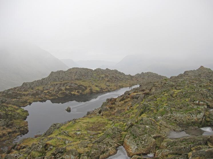 Haystacks summit tarn and cairn