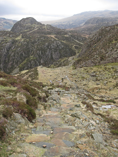 The way  ahead from Innominate Tarn, Green Crag on the left