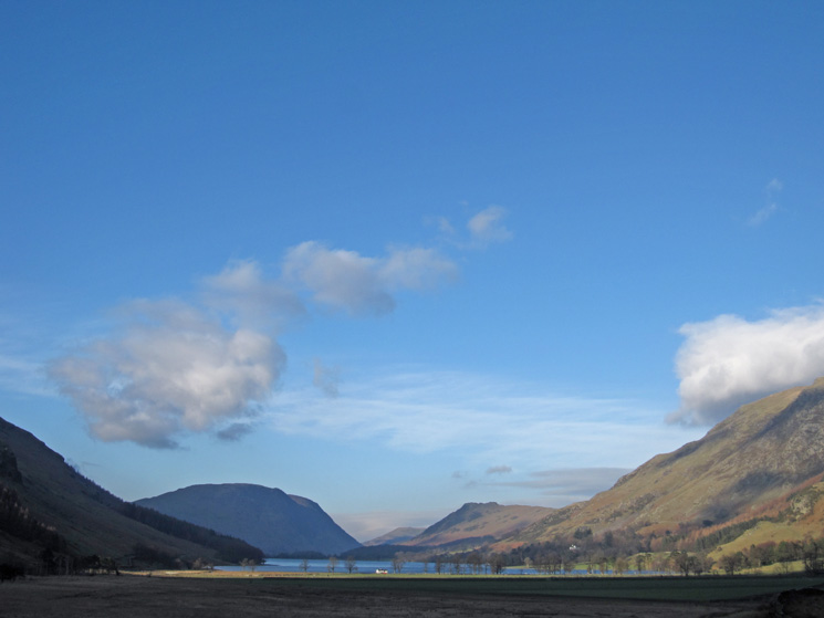 Blue skies over Buttermere