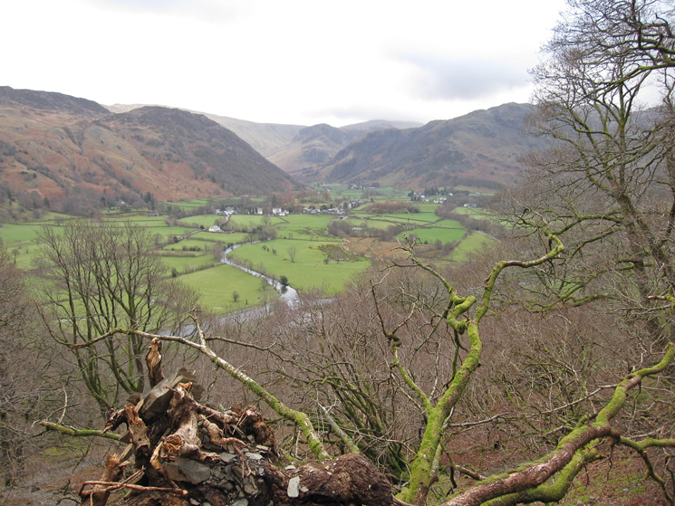 Looking back across the valley to Rosthwaite