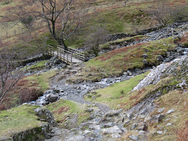 Footbridges across Tongue Gill