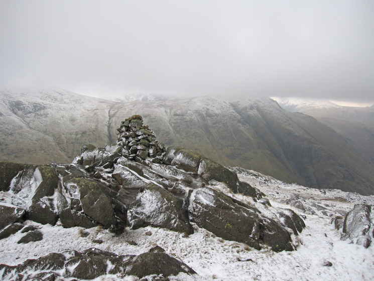 Seathwaite Fell, Wainwright's summit (601m) with Base Brown behind