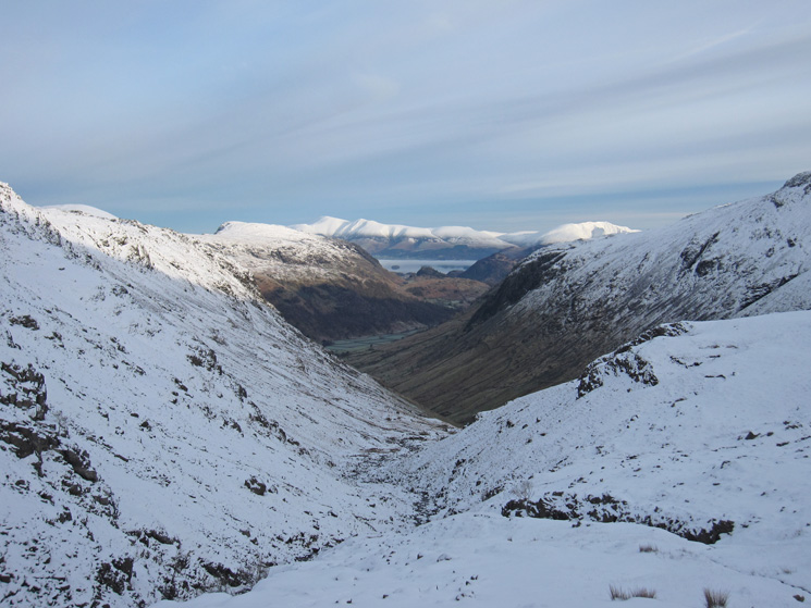 North to Skiddaw and Blencathra in the far distance