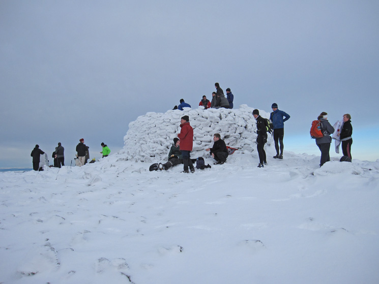 We were not alone on Scafell Pike's summit