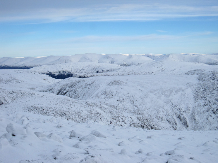 The Helvellyn range from Scafell Pike's summit