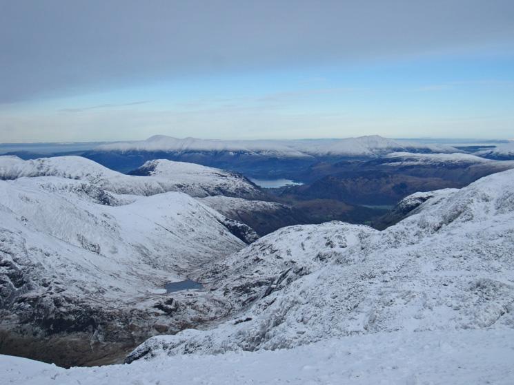 Styhead Tarn far below