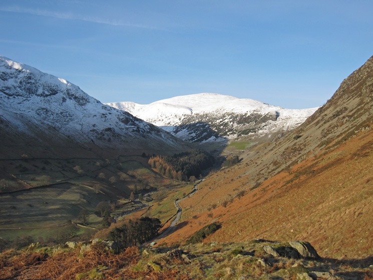Looking up Glenridding to Raise from the lower slopes of Glenridding Dodd