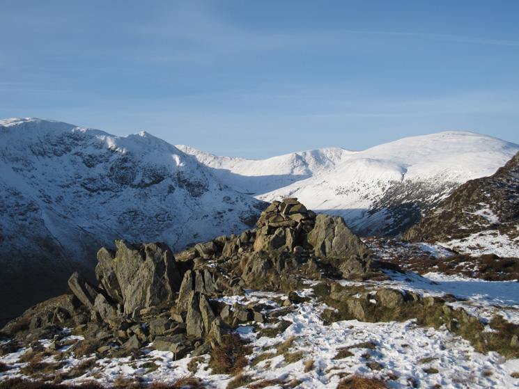 Birkhouse Moor, Catstycam, top of Helvellyn Lower Man, White Side and Raise from Glenridding Dodd's summit