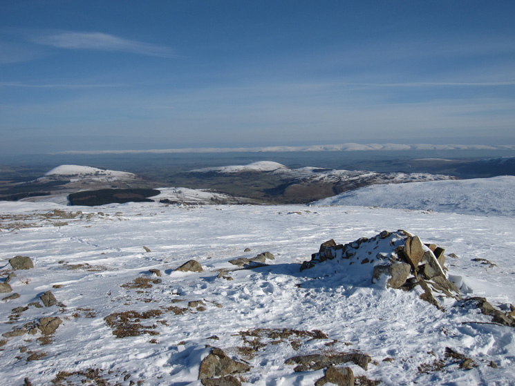 Great and Little Mell Fells and the North Pennines from Hart Side's summit
