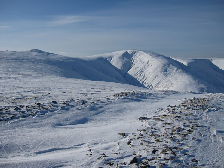 Stybarrow Dodd with the top of Raise sticking out about White Stones on the far left from Hart Side