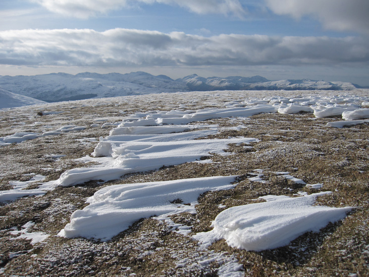 Towards Bowfell, the Scafells and Great Gable, to name a few, from Stybarrow Dodd