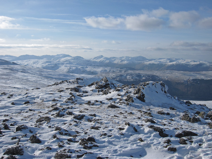 Southwest towards Scafell Pike and Great Gable