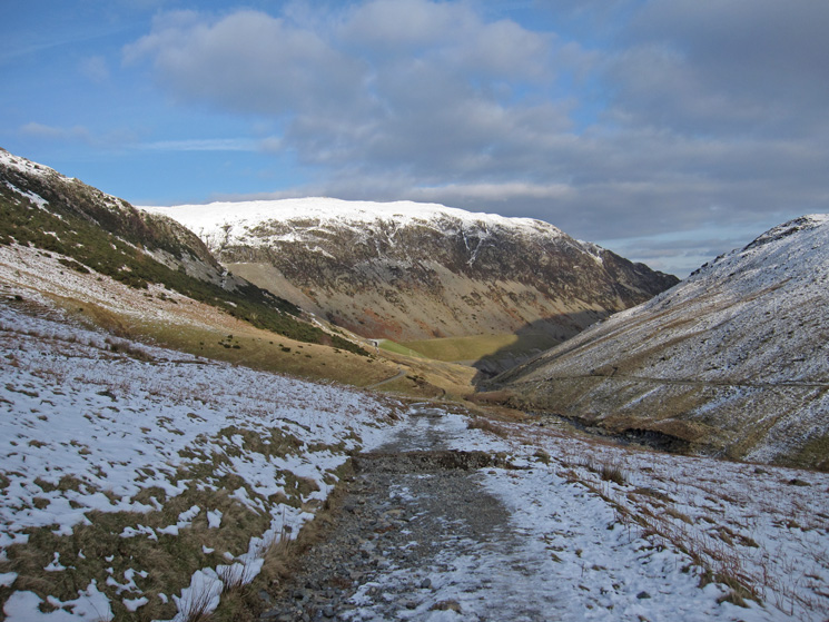 Greenside mines and Sheffield Pike as I head back to Glenridding