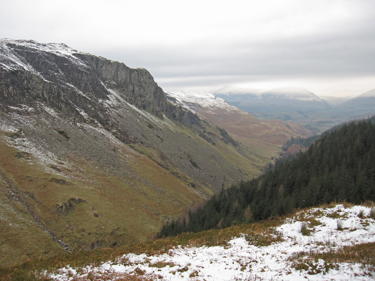 Shoulthwaite Gill from Castle Crag Fort