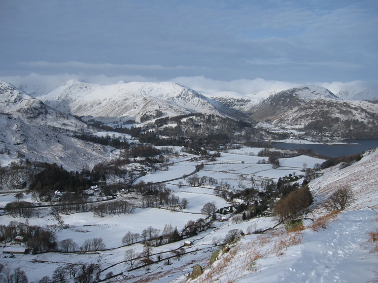 Looking back to Patterdale and the head of Ullswater as we head for Boredale Hause